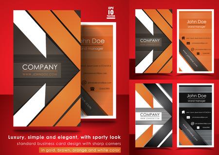 Sporty look business card design Illustration