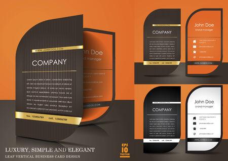 Luxury, simple and elegant leaf vertical business card