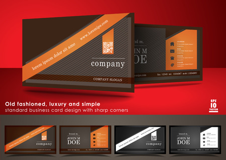 old fashioned: Old fashioned business card design with sharp corners
