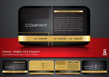 business card template: Rounded business card design