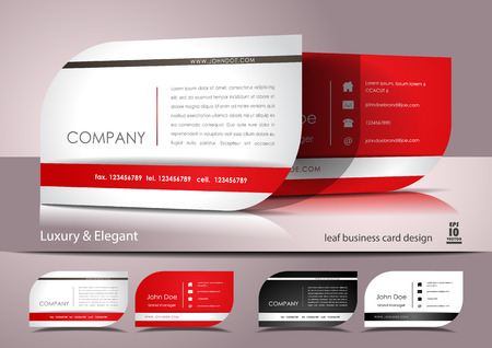 business cards: Elegant leaf business card design Illustration