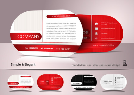 rounded: Rounded business card design