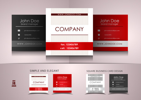 business card design: Simple square business card design