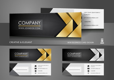Creative mini business card design Ilustrace