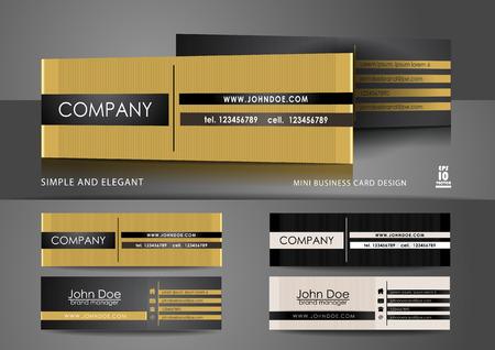 Simple mini business card design Illustration