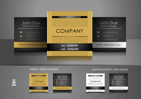 Simple square business card design