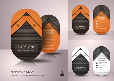 namecard: Vertical business card design Illustration