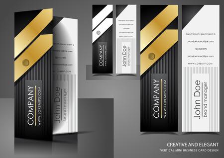 Elegant mini vertical business cards