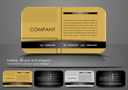 namecard: Golden rounded business card