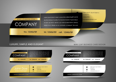 Mini leaf business card design
