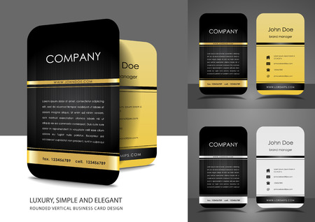 Rounded business card design