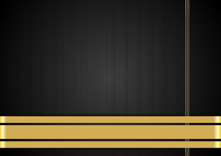 Black background with gold ribbons