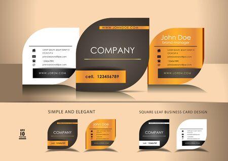 Leaf business cards Illustration