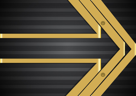 Arrow like background with stripes and ribbons