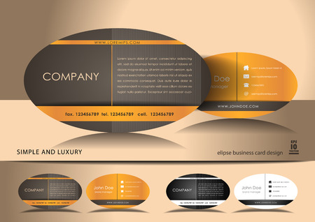 Elipse business card design