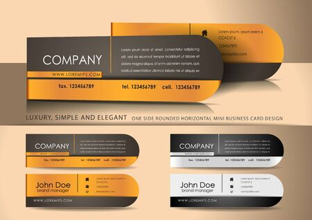 Mini brown business card design