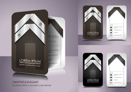 Creative business card set Ilustrace