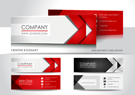 Light mini business card design