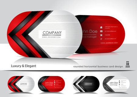 Creative oval business cards Illustration