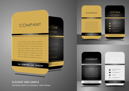 Business card design in gold and black color