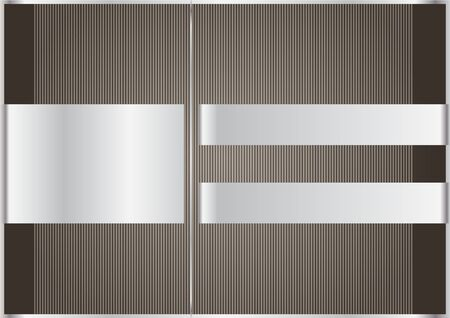Brown background with silver ribbons