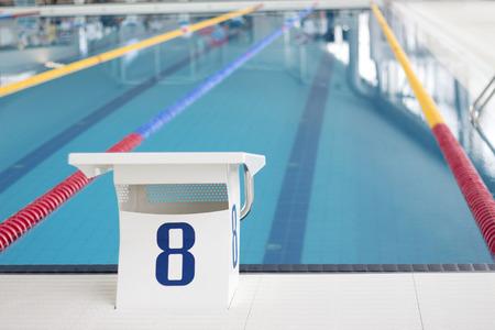 Swimming Pool Starting Block Stock Photo - 56222158