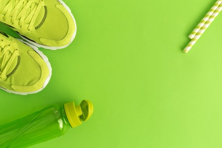 Healthy lifestyle minimal creative concept. Space for copy. Stock Photo