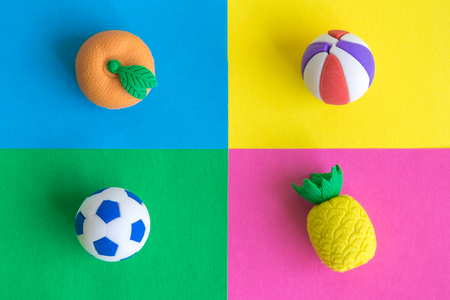 Sport and fruit healthy lifestyle minimal creative concept.