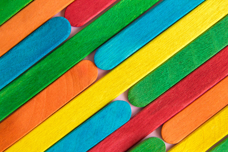 Colorful sticks background abstract minimal creative concept. Foto de archivo - 118588687