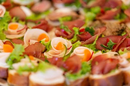 Fresh appetizer bruschetta close up