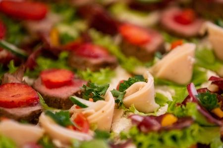Tasty mini sandwiches close up Reklamní fotografie