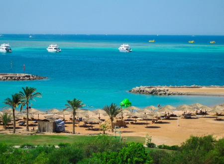A beautiful view of the Red Sea in Hurghada.Egypt.