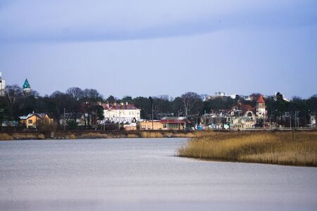 The city of Jurmala in Latvia on the banks of the Lielupe River in Latvia