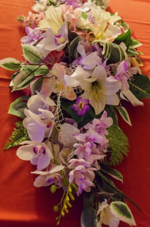 Nice bouquet for decorating a table of artificial flowers