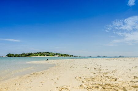 The beach on Belitung Island, Indonesia 스톡 콘텐츠
