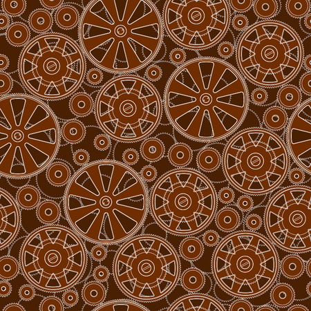 Pattern with gears. Illustration