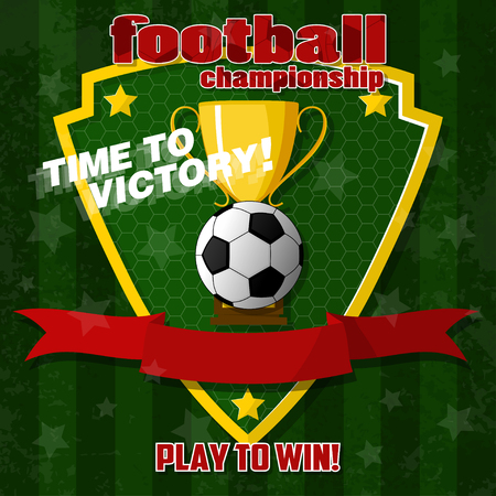 Design on the football theme. For T-shirts, banners and other decorations.