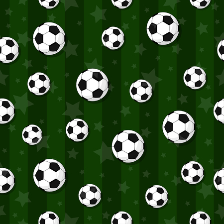 The seamless pattern on the football theme. Vettoriali