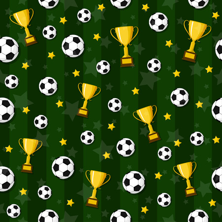 The seamless pattern on the football theme. 向量圖像