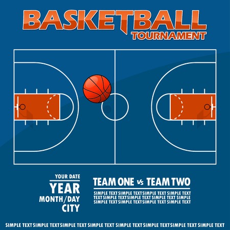 Variant of the poster for the basketball tournament. All elements are located on different layers and can be easily manipulated.