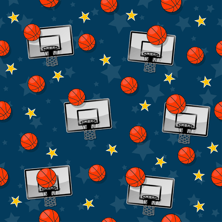 The seamless pattern on the basketball theme. Illusztráció