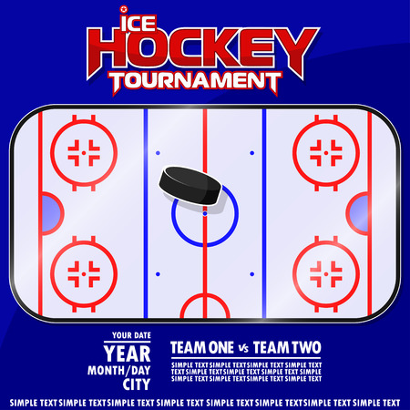 Variant of the poster for the ice hockey tournament. All elements are located on different layers and can be easily manipulated. Archivio Fotografico - 106308088