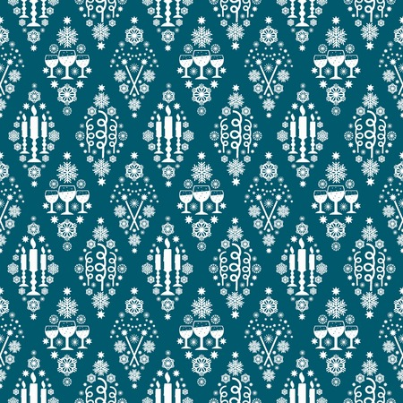 Seamless pattern on christmas theme. For decoration, wrapping paper, backgrounds and others.