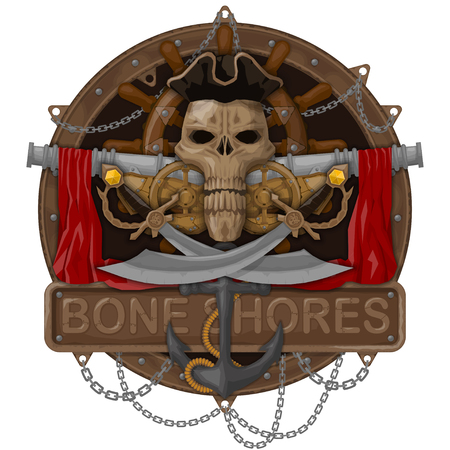 T-shirts illustration on the pirate theme. All elements are located on separate layers and easily manipulated. Иллюстрация