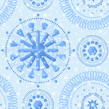 Winter crystal seamless pattern. For decoration, wrapping, print or advertising. Banco de Imagens - 113937977