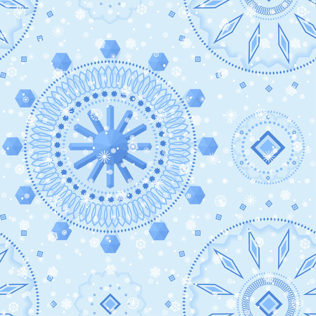 Winter crystal seamless pattern. For decoration, wrapping, print or advertising.
