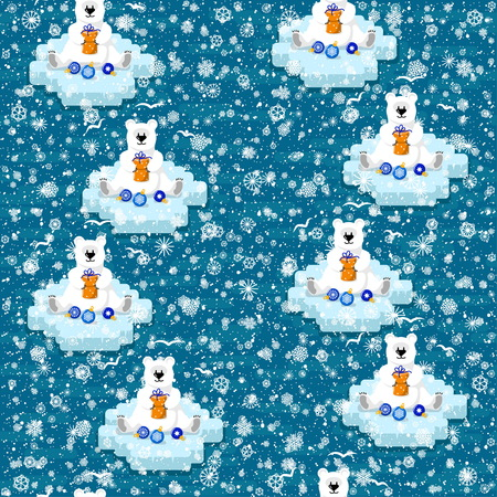 Seamless pattern on the winter theme. For decoration, wrapping, print or advertising. Banco de Imagens - 117175371