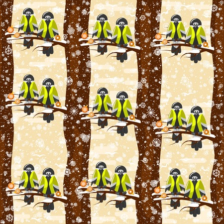 Seamless pattern on the winter theme. For decoration, wrapping, print or advertising. Ilustração