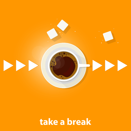Coffee theme illustration. For decoration, print or advertising. Banco de Imagens - 117175443