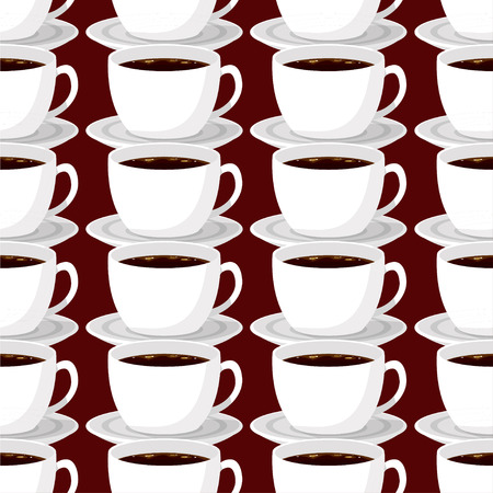 Coffee theme seamless patterns. For decoration, print, wrapping paper or advertising. Banco de Imagens - 117175449